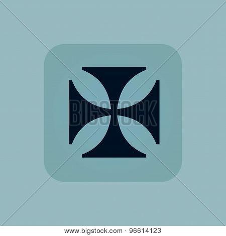 Pale blue maltese cross icon