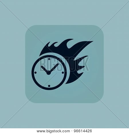 Pale blue burning time icon