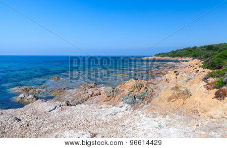 Landscape With Empty Wild Beach, Corsica