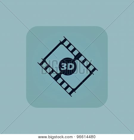 Pale blue 3D movie icon