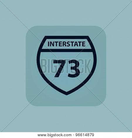 Pale blue Interstate 73 icon