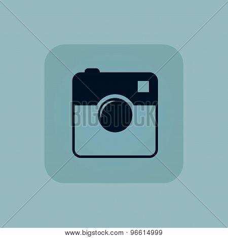 Pale blue square camera icon