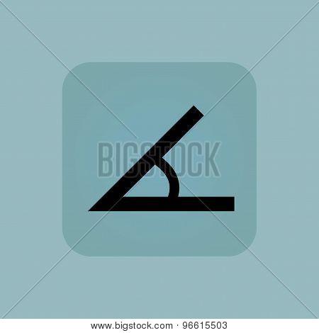 Pale blue angle icon