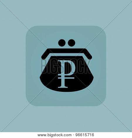 Pale blue ruble purse icon