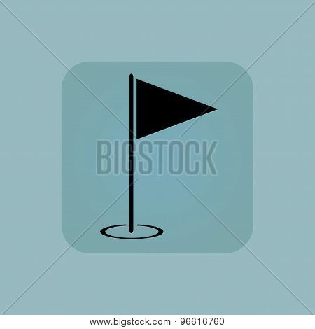 Pale blue flagstick icon