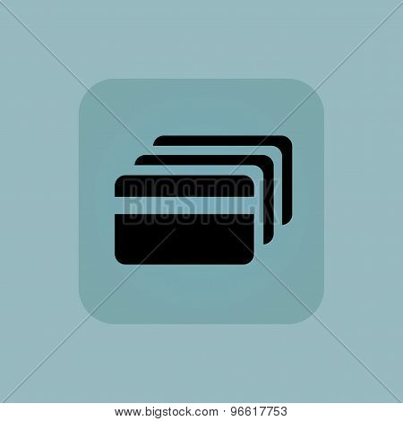 Pale blue credit card icon