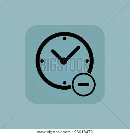 Pale blue reduce time icon