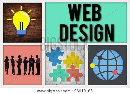 Web Design Programming Technology Online Concept