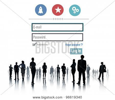 Log in Security User Name Password Protection Privacy Concept
