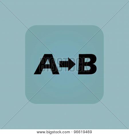 Pale blue A B icon