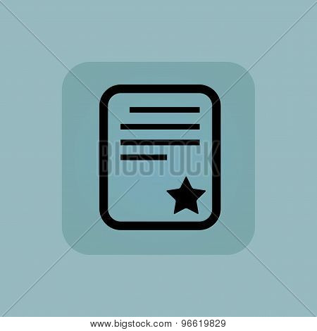 Pale blue best document icon