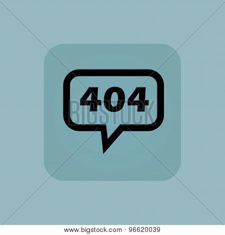 Pale blue error 404 message