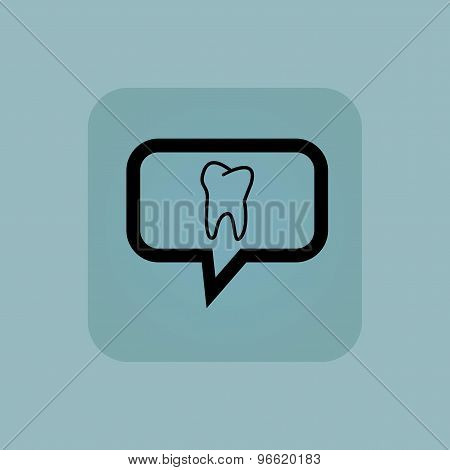 Pale blue tooth message icon