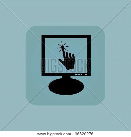 Pale blue hand cursor monitor