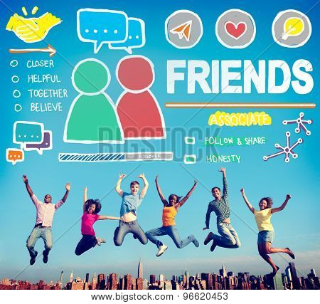 Friends Group People Social Media Loyalty Concept