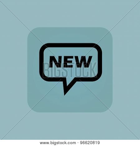 Pale blue NEW message icon