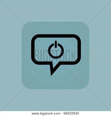 Pale blue power message icon