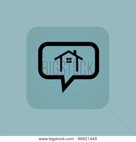Pale blue cottage message
