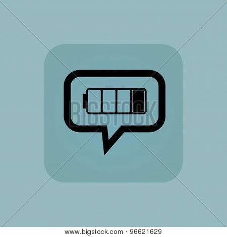 Pale blue low battery message