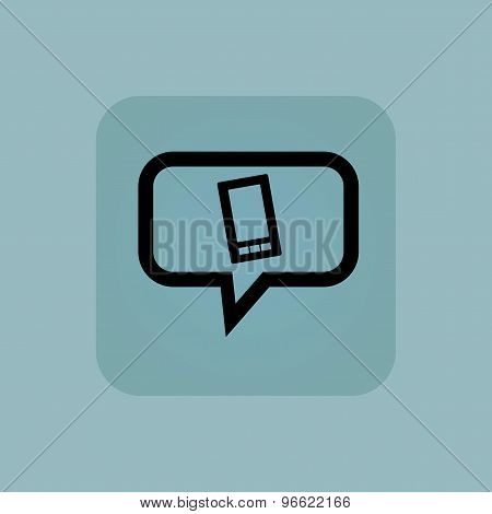 Pale blue smartphone message icon