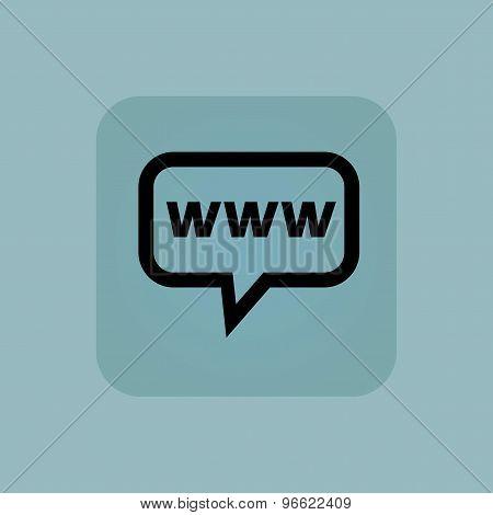 Pale blue WWW message icon