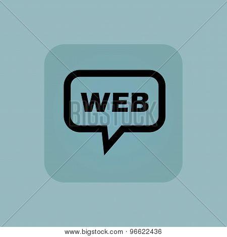 Pale blue WEB message icon
