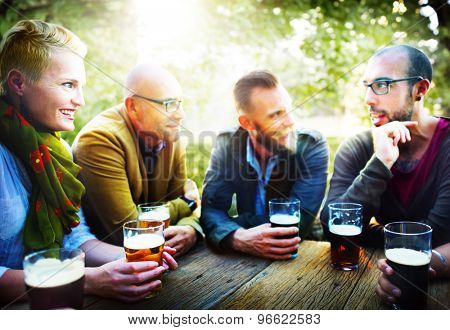 People Beer Drinking Party Friendship Concept