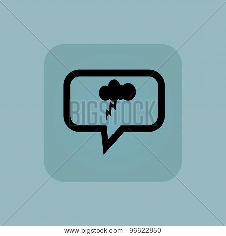 Pale blue thunderstorm message icon