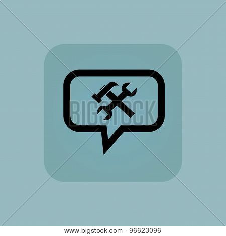 Pale blue repairs message icon