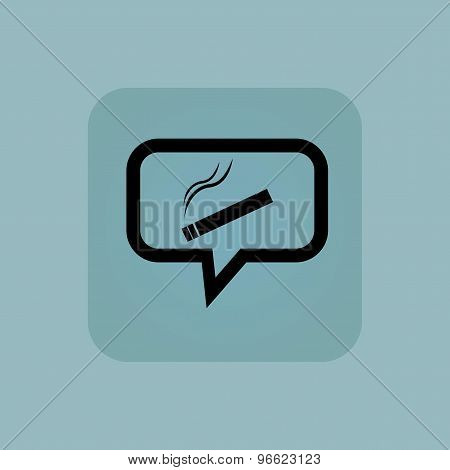Pale blue smoking message icon