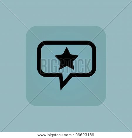 Pale blue favorite message icon