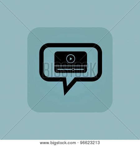 Pale blue mediaplayer message icon