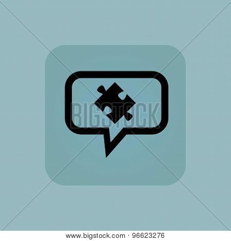 Pale blue puzzle message