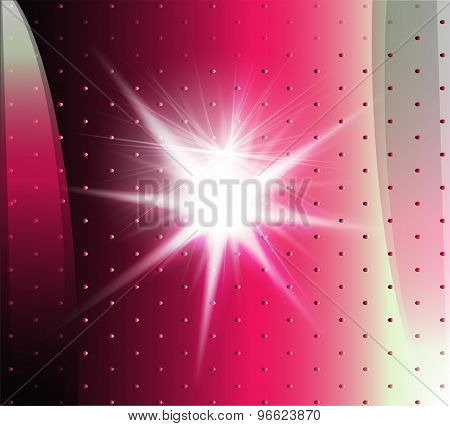 Abstract pink technical background with burst