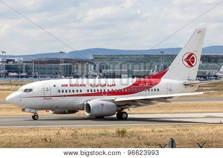 Air Algerie Boeing 737 Next Gen In Frankfurt Main