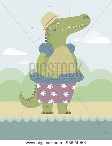 Alligator On The Beach