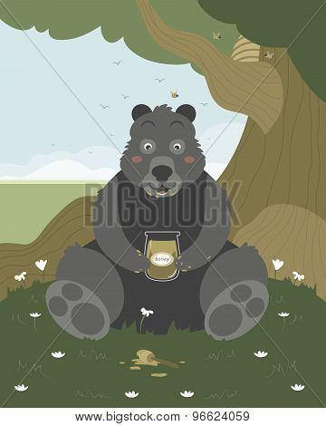 Bear With A Jar Of Honey