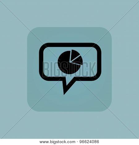 Pale blue diagram message icon