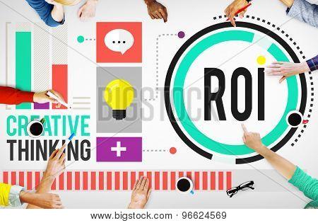 Return On Investment Financial Management Revenue Concept