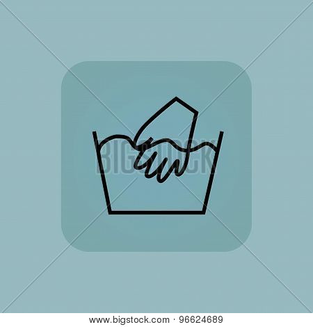 Pale blue hand wash icon