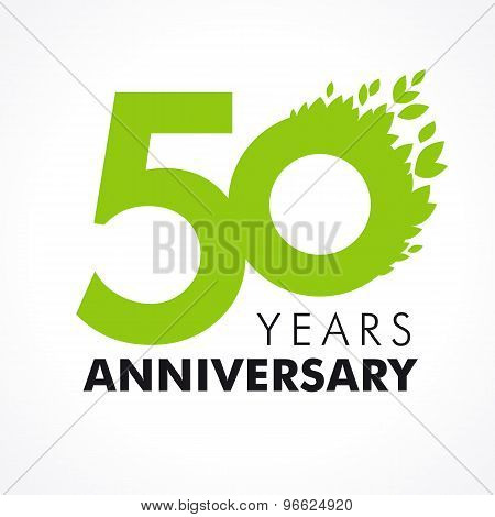 50 anniversary leaves logo