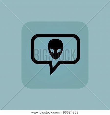 Pale blue alien message icon
