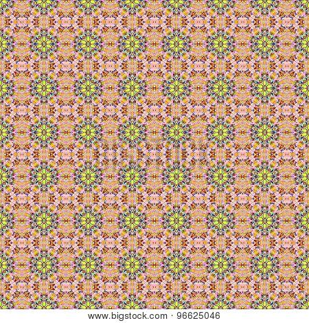 Seamless floral pattern pink yellow
