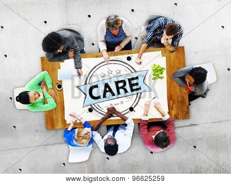 Care Protect Secure Healthcare Service Concept
