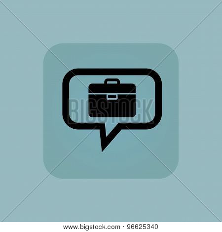 Pale blue briefcase message icon
