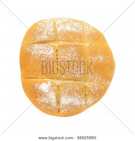 Flat Round Bread With Crossed Notches