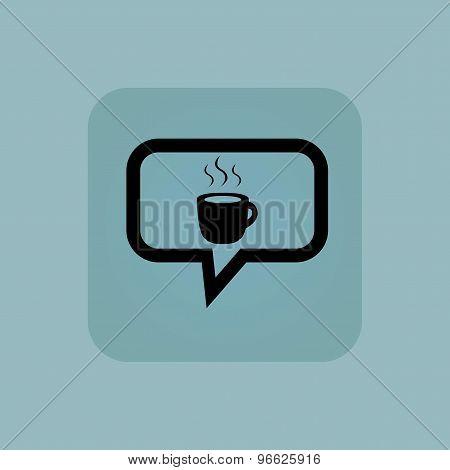 Pale blue hot drink message