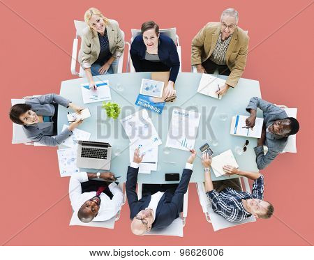 Business Team Discussion Meeting Analysing Concept