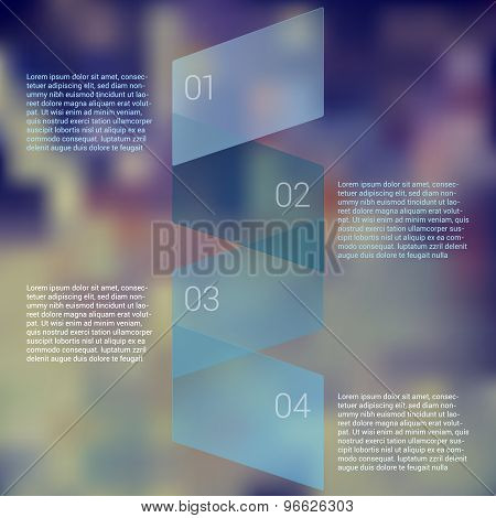 Fold ribbon secuence chart infographic template design