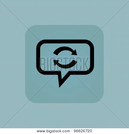 Pale blue exchange message icon